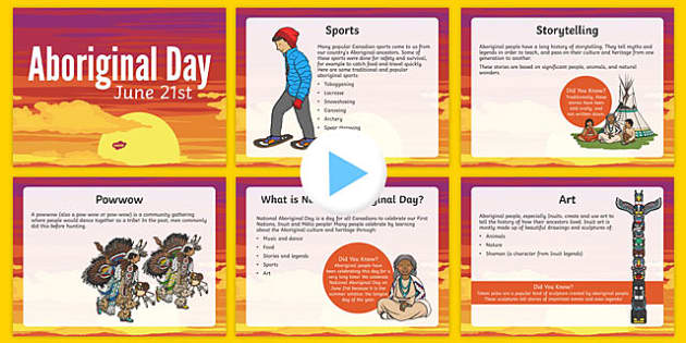 National Aboriginal Day Informative PowerPoint - canada, national aboriginal day, information, powerpoint