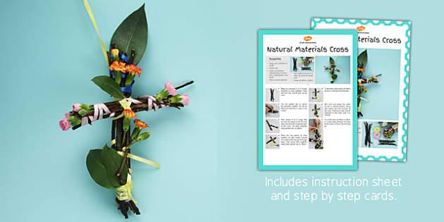 Natural Materials Cross Craft Instructions - craft, instructions