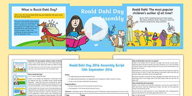 Roald Dahl Day 2016 Assembly Pack