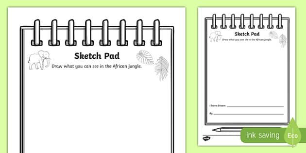 African Jungle Explorers Role Play Sketch Pad