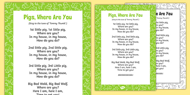 Pigs, Where Are You? Song