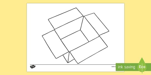 Doodle Draft Box Activity Sheet-Irish - ROI, Ireland, doodle, draft, sketch, starter, creative, drawing, art, activity sheet,Irish, workshee