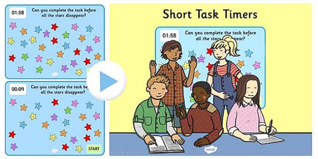 2 Minute Task Timer PowerPoint - powerpoint, task time powerpoint, 2 minute task times, two minute task timer, task timer, two minutes, stars, 2 minutes