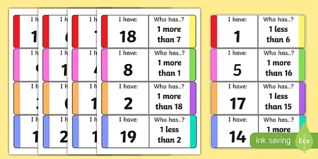 One More One Less Loop Cards - counting, counting aid, games, One more, one less, counting, loop cards, numbers to 20, numeracy, numbers, counting, one more, one less