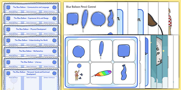 Lesson Plan and Enhancement Ideas EYFS to Support Teaching on The Blue Balloon - blue balloon, EYFS