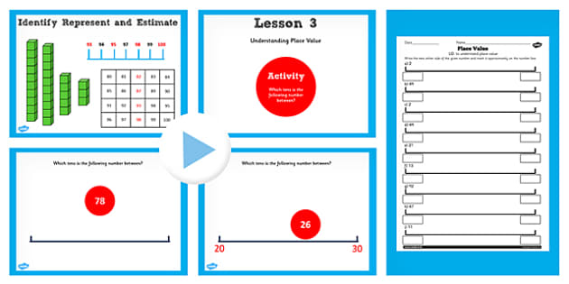 Year 2 Maths Understanding Place Value Lesson Pack - pack, y2
