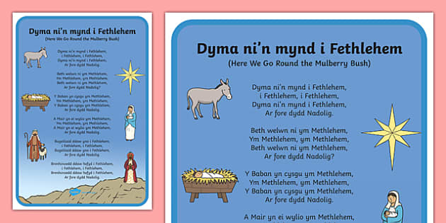 Here we go to Bethlehem Song Lyrics-Welsh