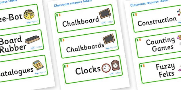 Ireland Themed Editable Additional Classroom Resource Labels - Themed Label template, Resource Label, Name Labels, Editable Labels, Drawer Labels, KS1 Labels, Foundation Labels, Foundation Stage Labels, Teaching Labels, Resource Labels, Tray Labels,