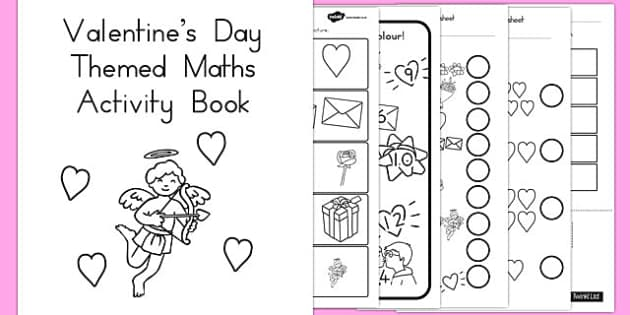 Valentines Day Themed Maths Activity Book - australia, activity