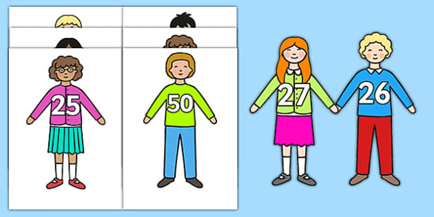 Numbers 1-50 on Children - numbers, 1-50, children, display
