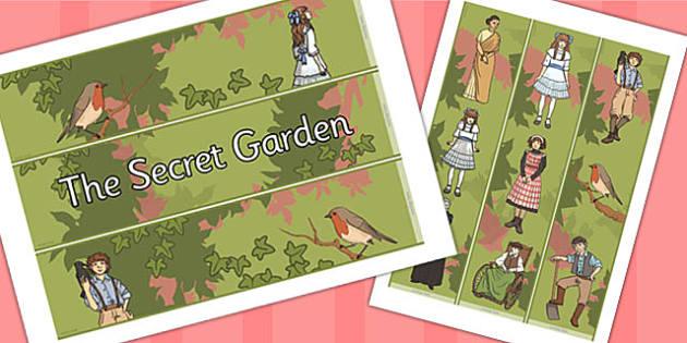 The Secret Garden Display Borders - display, borders, secret
