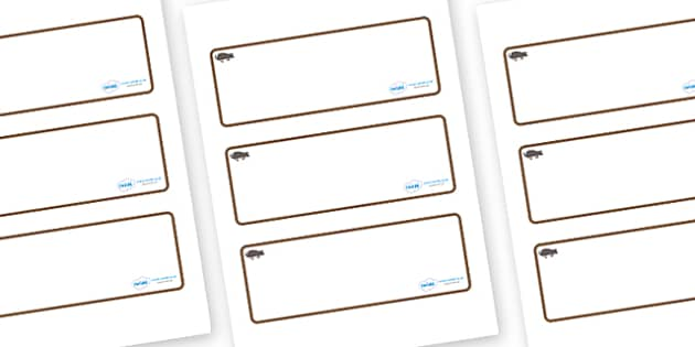 Mole Themed Editable Drawer-Peg-Name Labels (Blank) - Themed Classroom Label Templates, Resource Labels, Name Labels, Editable Labels, Drawer Labels, Coat Peg Labels, Peg Label, KS1 Labels, Foundation Labels, Foundation Stage Labels, Teaching Labels