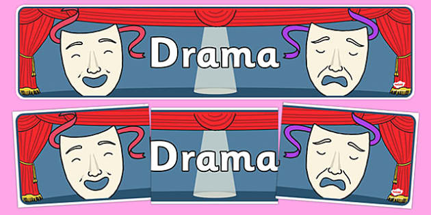 Drama Display Banner - display, poster, banner, drama, theatre, role play, acting