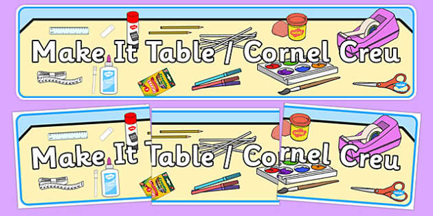 Bilingual Banner for Make It Table - welsh, cymraeg, Make it table, Display Banner, Foundation Phase