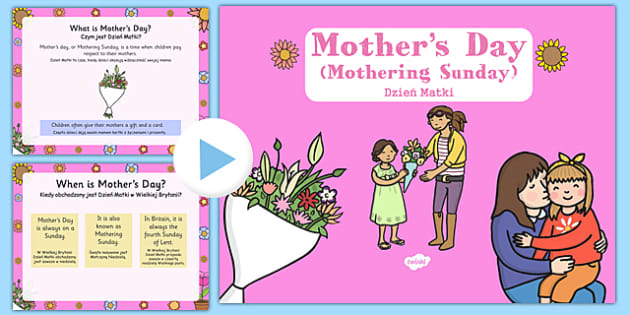 Mother's Day Presentation Polish Translation - polish, mothers day, presentation, assembly, powerpoint