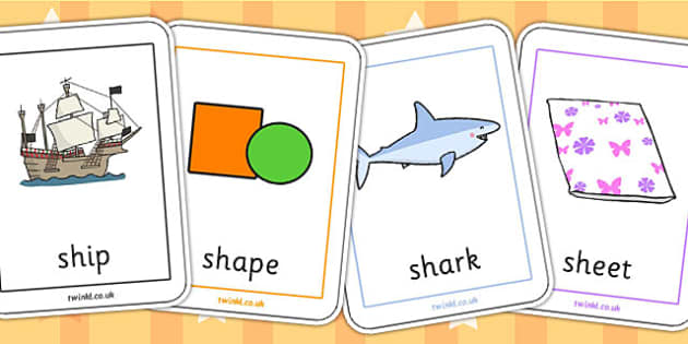 sh Sound Playing Cards - sh sound, sh, sound, playing cards, game