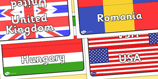 World Flags Class Table Group Signs - world, flags, class, table
