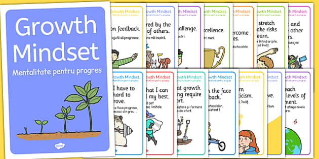 Growth Mind-set Statement Posters Romanian Translation - romanian, PSHE, Facts, Posters, display, information