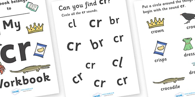 My 'cr' Letter Blend Workbook - workbook, cr, letters, blend, alphabet, activity, handwriting, blends, letter, letter blends