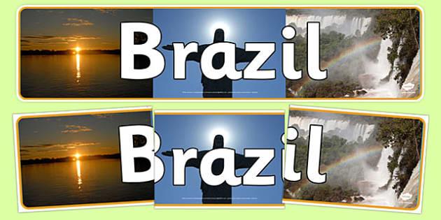 Brazil Photo Display Banner - Brazil, Display Banner, Banner, Brazil Display Banner, Brazilian  Banner, Photo Banner, Themed Banner