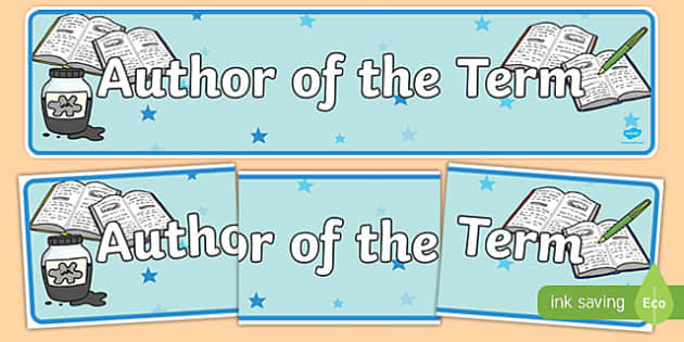 Author of the Term Display Banner - reading, books, read, authors