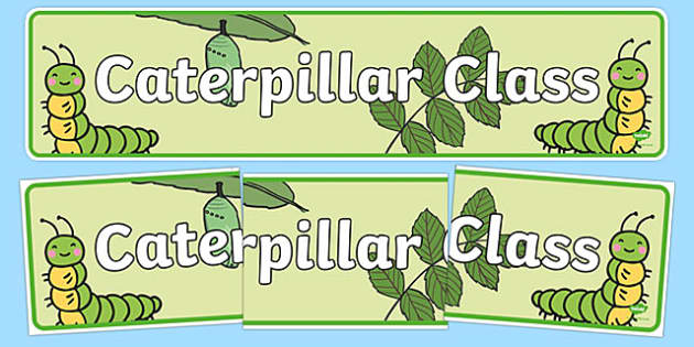 Caterpillar Class Display Banner - caterpillar class, class banner, class display, caterpillars, classroom banner, classroom areas signs, areas, display banner, display