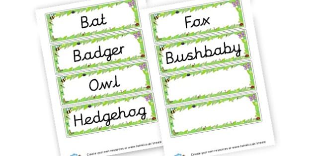 Nocturnal Animals Word Cards - Primary Resources English, Literacy, Letters and Sounds, phonics