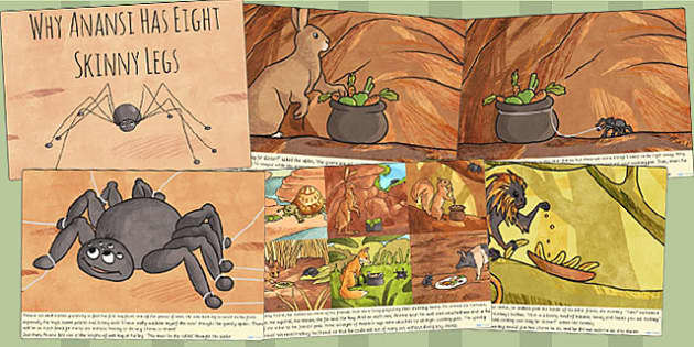 Why Anansi Has Eight Skinny Legs Story Cards - story, story book