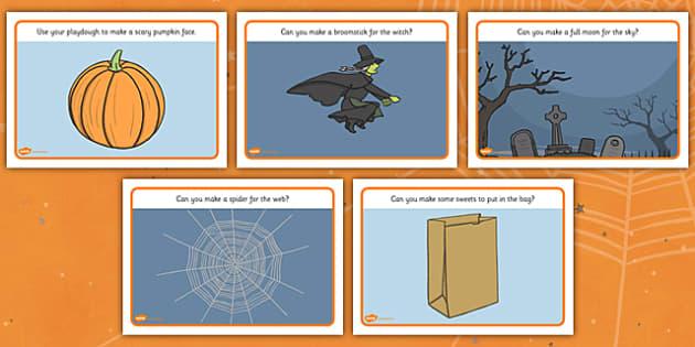 Halloween Playdough Mat -  Halloween, playdough, mat, playdough activity, pumpkin, witch, bats, scary, Hallowe'en