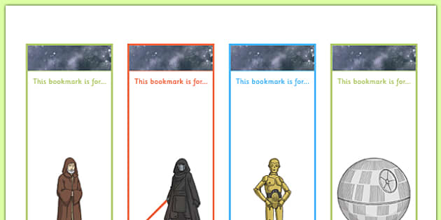 Space Wars Themed Bookmarks - space wars, star wars, bookmarks