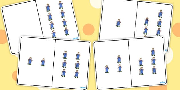 Farmer Counting Number Bonds to 8 - counting, number, bonds, 8
