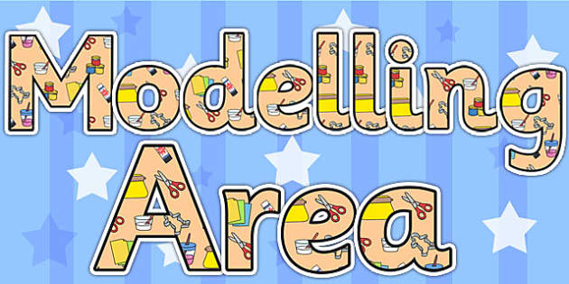 Modelling Area Display Lettering - modelling area, letters, areas