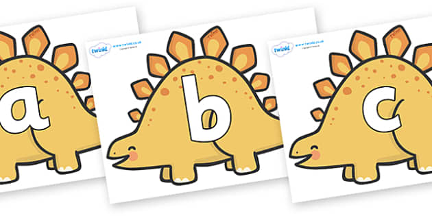 Phoneme Set on Stegosarus Dinosaurs - Phoneme set, phonemes, phoneme, Letters and Sounds, DfES, display, Phase 1, Phase 2, Phase 3, Phase 5, Foundation, Literacy