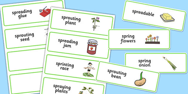 Three Syllable SPR Word Cards - sen, sound, spr sound, spr, three syllable, word cards