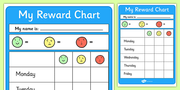 Editable Reward Chart Reward Chart School reward Behaviour – Behaviour Chart Template
