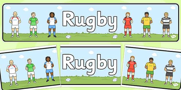 Rugby Display Banner - rugby, display banner, display, banner