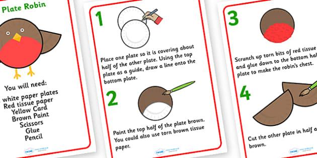 Paper Plate Robin Craft Activity - Activities, fun, paper plate, paper plate activities, robin, paper plate robin, paper plate robin craft, crafts, craft activities, activities for kids, how to make a robin