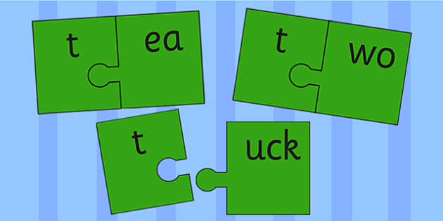 t and Vowel Production Jigsaw Cut Outs - t, vowel, jigsaw, sounds