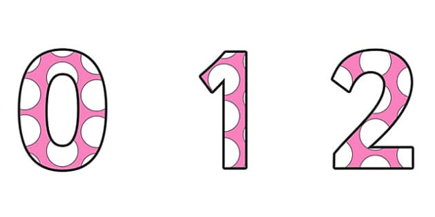 Polka Dots Small Display Numbers - number, spots, spot, displays