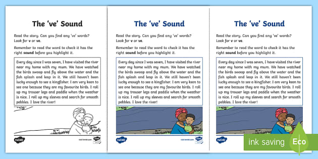 Northern Ireland Linguistic Phonics Stage 5 and 6 Phase 3a, 've' Sound Activity Sheet - Linguistic Phonics, Stage 5, Stage 6, Phase 3a, Northern Ireland, 've' sound, sound search, text