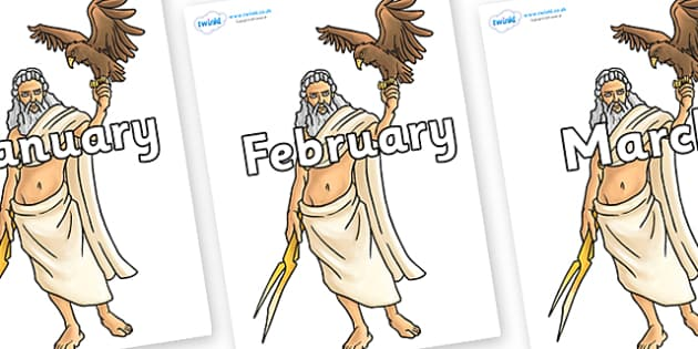 Months of the Year on Zeus - Months of the Year, Months poster, Months display, display, poster, frieze, Months, month, January, February, March, April, May, June, July, August, September