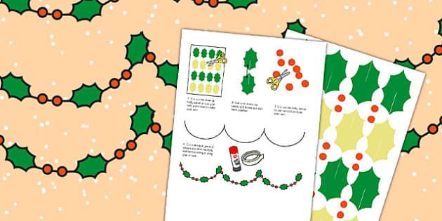Holly Bunting - holly bunting, bunting, holly, christmas, display