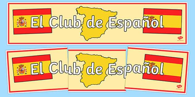 Spanish Club Display Banner