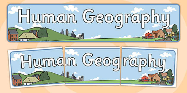 Human Geography Display Banner - display, geography, banner