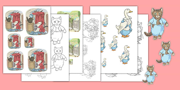 Beatrix Potter - The Tale of Tom Kitten Size Ordering - beatrix potter, tom kitten