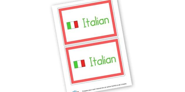 Italian Book Cover