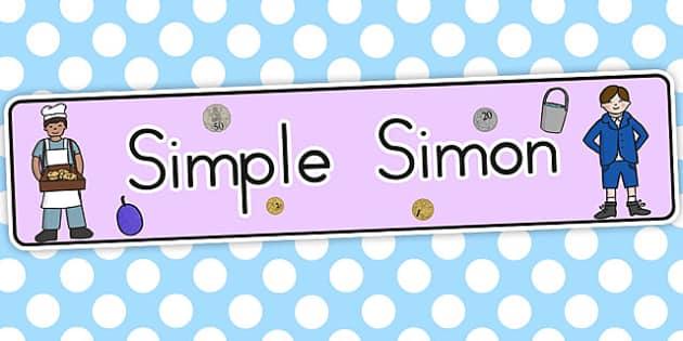 Simple Simon Display Banner - australia, display, banner, simon