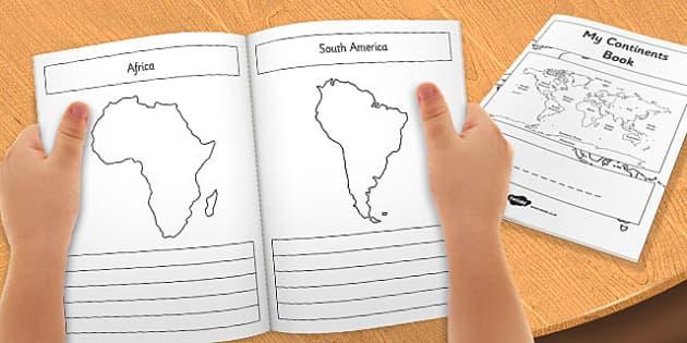 What a Wonderful World My Seven Continents Mini Book - mini book