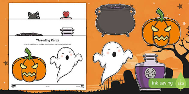 Halloween Threading Cards