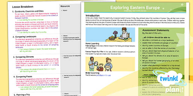 PlanIt - Geography Year 5 - Exploring Eastern Europe Planning Overview